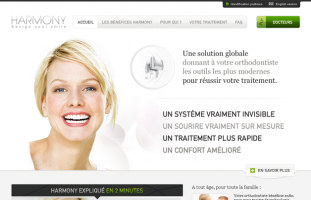 Harmony - Site corporate multilangue - developpement site internet web freelance