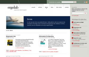 Amélie Boucher - Site d'Ergolab sur l'ergonomie Web - developpeur web php