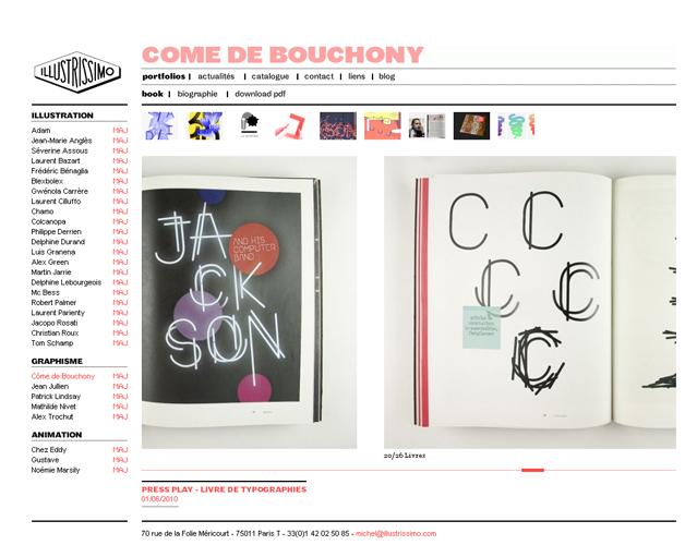 Book artiste - Côme de Bouchony