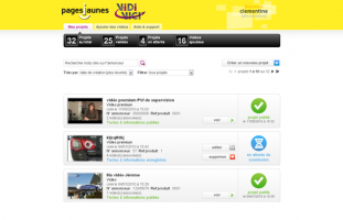 Pages Jaunes - Extranet Vidivici - developpeur freelance