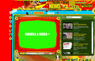 Manu Chao - Site artiste multilangue - web developpeur site internet freelance