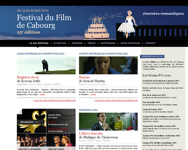 Homepage, édition 2011
