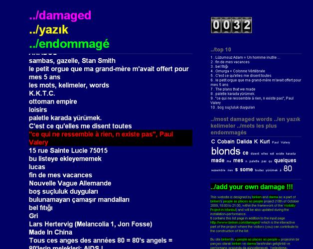 damaged // les endommagés