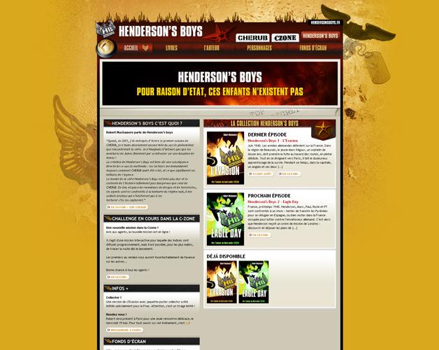Henderson's Boys, homepage