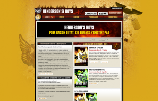 Casterman - Cherub + Henderson's Boys - developpement site internet web freelance