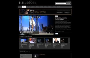 Elle - Portail vidéo du magazine - web developpeur site internet freelance