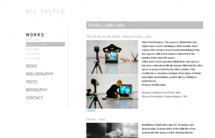 Nil Yalter - Art vidéo, art contemporain - web developpeur php mysql