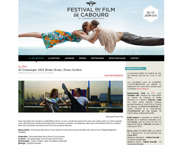 Fiche film, édition 2012