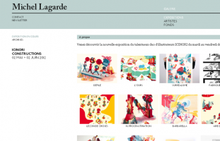 Michel Lagarde - Galerie, éditions - web developpeur site internet freelance